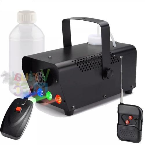 maquina de fumaca 600w 3 leds 1 watt rgb controle sem fio