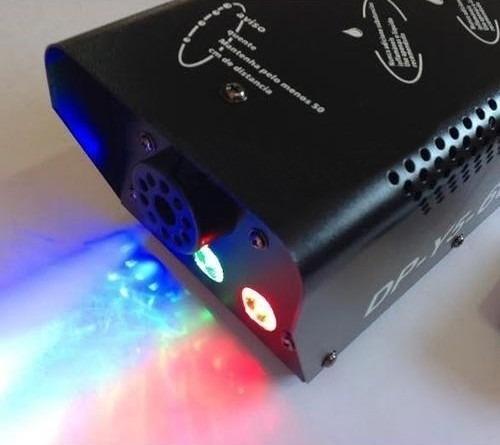 maquina de fumaça dj 600w leds rgb turbo dmx wireless - 110v