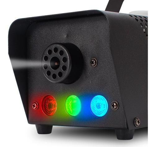máquina de fumaça dj 600w leds rgb turbo dmx wireless fluido