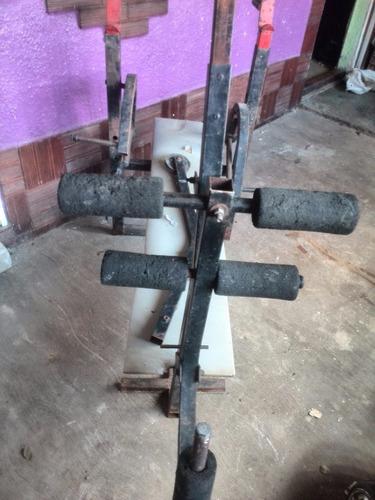 maquina de gimnasio  multifuerza de banco de pesas
