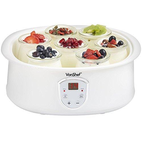 máquina de hacer yogur digital automática vonshef con pant