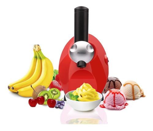 maquina de helado cremoso  yogur casero frutas saludable