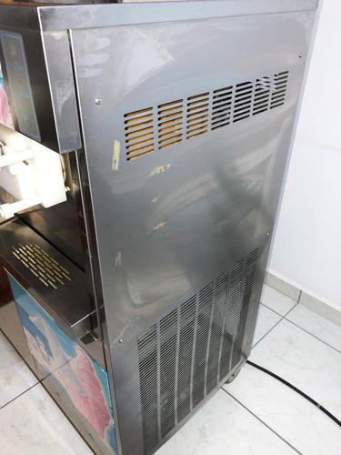 maquina de helado suave 2 sabores 1 combinado