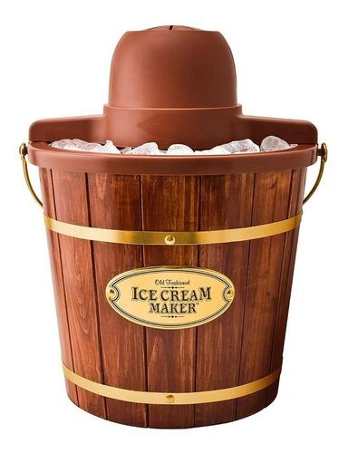máquina de helados nostalgia 4 lts madera nuevo