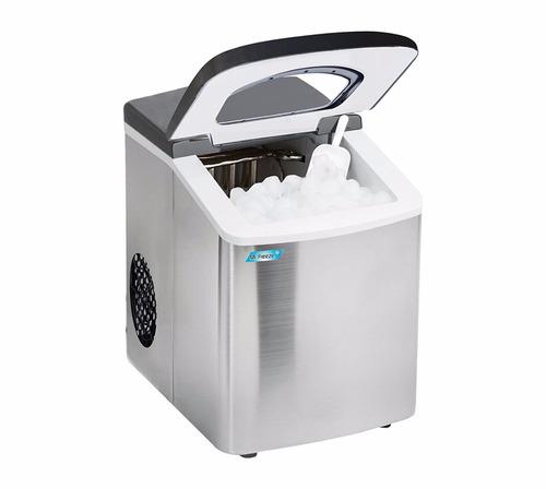 maquina de hielo portable mr. freeze acero inoxidable reacon