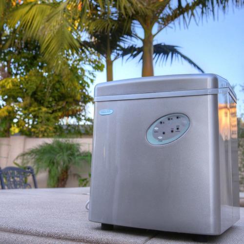 máquina de hielo portátil de 28 libras plata