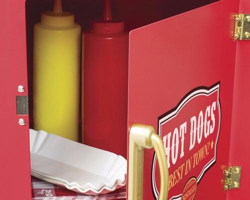 maquina de hotdogs con carrito carrusel retro nostalgia