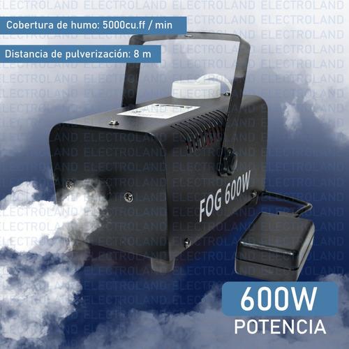 maquina de humo 600 w control remoto inalambrico fiestas dj