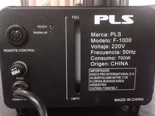 maquina de humo pls f1000 watts control inalambrico y cable