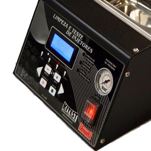 máquina de limpeza de bicos completa cuba 3l ka-080 kitest