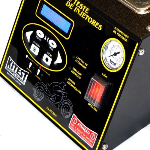 máquina de limpeza e teste bicos inj. p/ motos kitest-ka039m