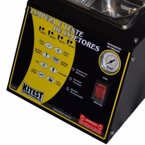 máquina de limpeza e teste de injetores com cuba de 1 litro