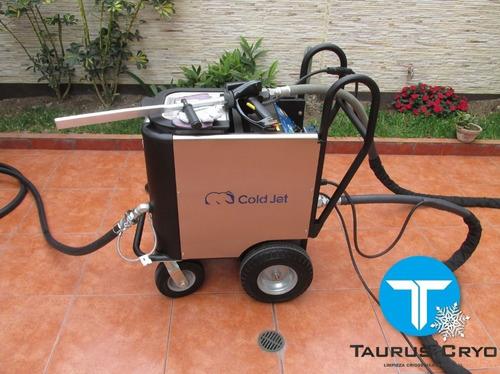 máquina de limpieza con hielo seco cold jet aero 40 hp