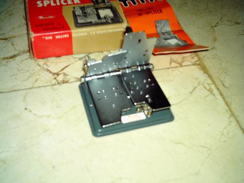 maquina de montaje de películas super 8 y doble 8. splicer.