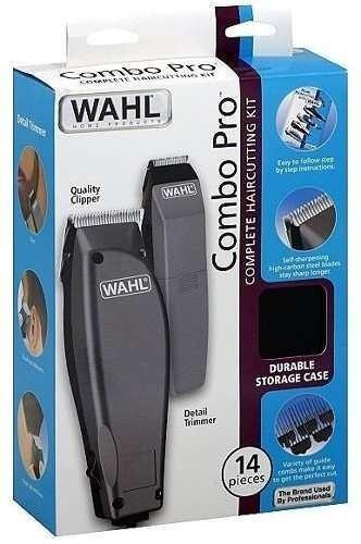 maquina de motilar peluqueria + patillera wahl combo 14 piez