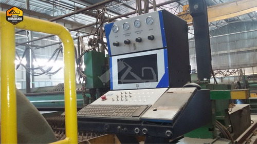 máquina de oxicorte cnc - messer griesheim / 1990