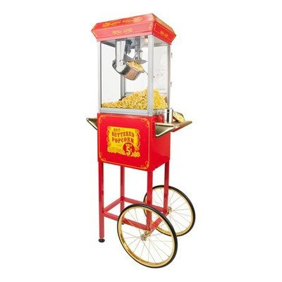 maquina de palomitas funtime con el carro sideshow popper