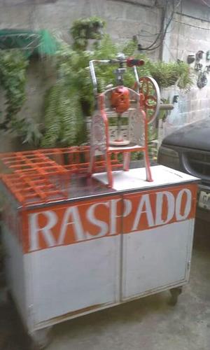 maquina de raspado con carrito