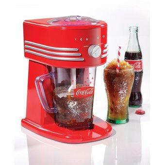 maquina de raspados o cholados nostalgia coca-cola roja