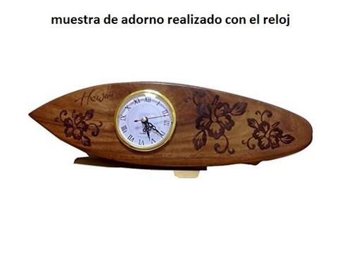 maquina de reloj insertar en adorno de  3.5cm diametro