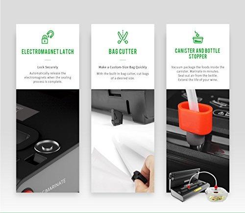 máquina de sellado al vacío y báscula cocina digital led de