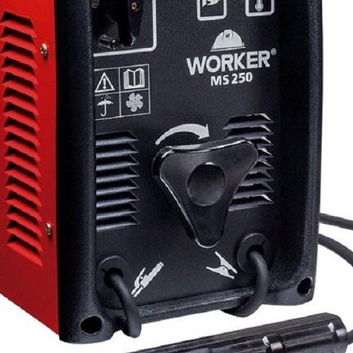 maquina de solda 250a worker ms-250 110-220 frete grátis
