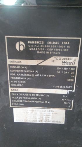 maquina de solda bambozzi 385ed