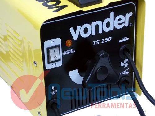 maquina de solda eletrica 150a turbo 127v vonder +brindes!