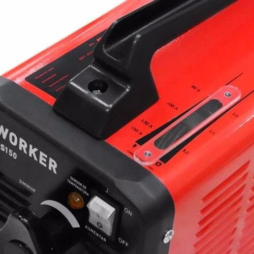 maquina de solda eletrica 150a worker ms 150 com brindes