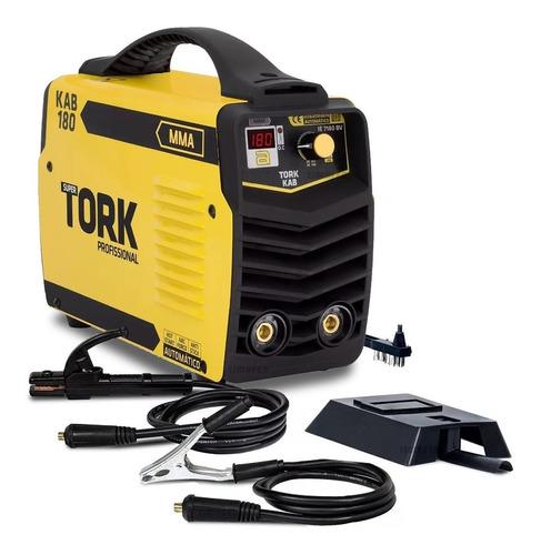 máquina de solda inversor 180 ah - kab 180 tork ie-7180-bv