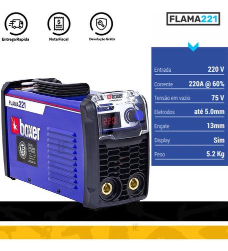 máquina de solda inversora 220a flama221 boxer