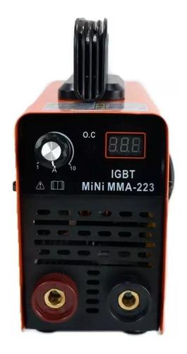 máquina de solda inversora 223 mini portátil 220v usk + masc