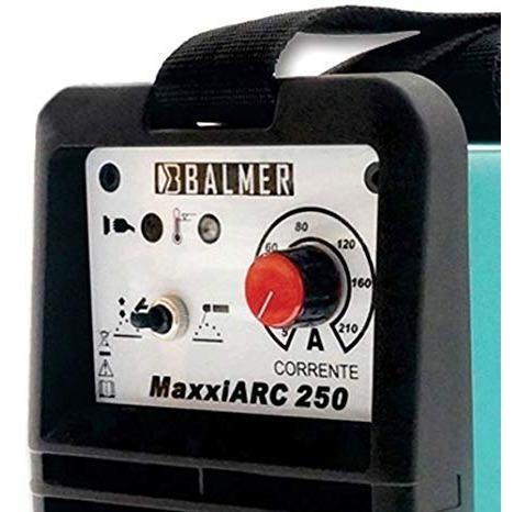 máquina de solda inversora maxxiarc 250 220v 250 amp balmer