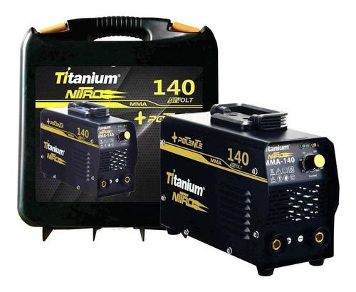 máquina de solda inversora mini 140a bivolt nitro titanium