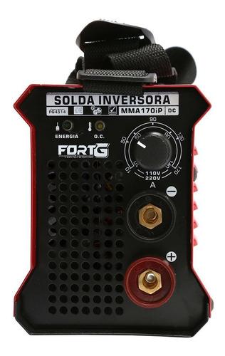 máquina de solda inversora mma170ip 170a compacta bivolt-for