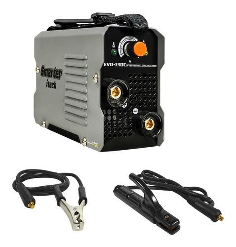 máquina de solda inversora portátil 130a evo-130c smarter