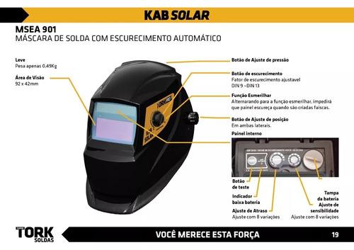 maquina de solda inversora supertork 180a+ mascara aut solar