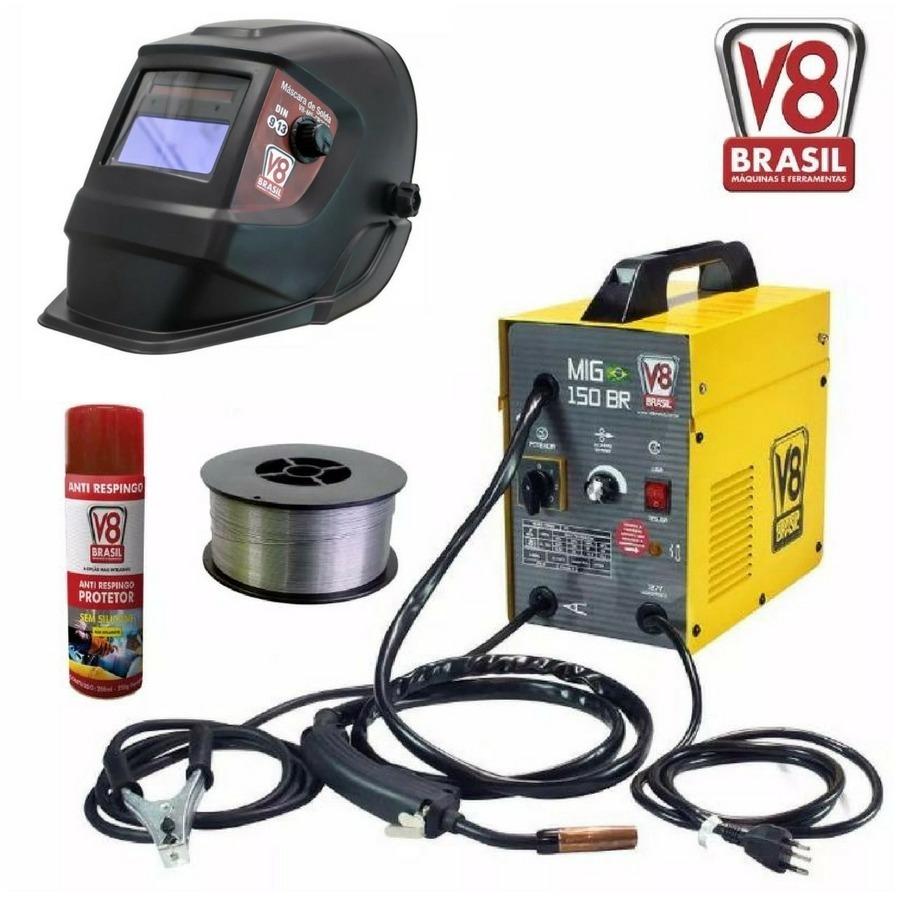 Máquina De Solda Mig 150 Br V8 Brasil Sem Uso De Gás 220v - R  911 ... c25b8eb630