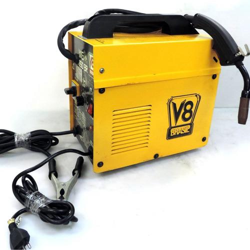 máquina de solda mig 150br v8brasil sem gás 110v