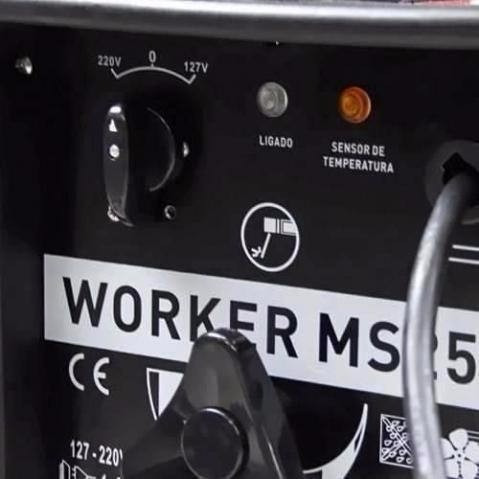 máquina de solda transformador 250a - ms250a - worker !!!