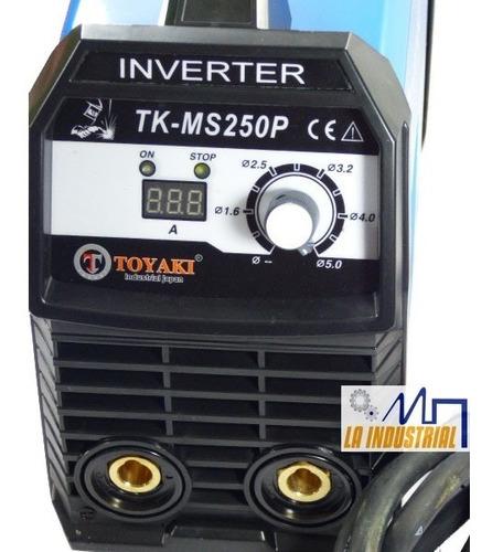 máquina de soldar 250amp inverter igbt toyaki japón tkms250p