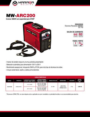 máquina de soldar inversor mw-arc200