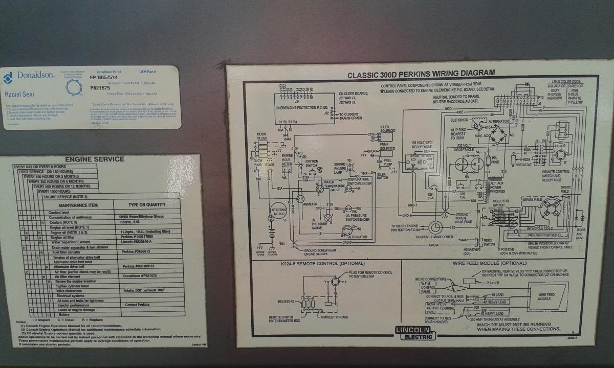 Mquina De Soldar Lincoln Classic 300d Motor Perkins Nueva Bs 0 Wiring Diagram Cargando Zoom