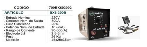 maquina de soldar marca  narita    300 amp