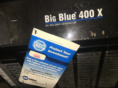 máquina de soldar miller big blue 400x con motor diesel