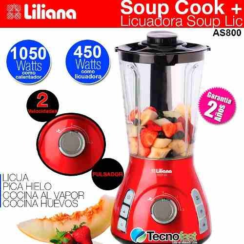 maquina de sopa soup cook + licuadora soup lic liliana as800