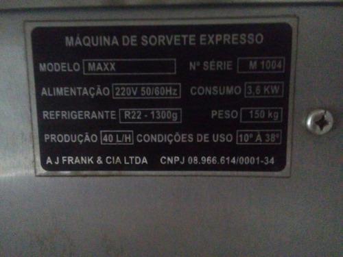 máquina de sorevete expresso kiopps maxx