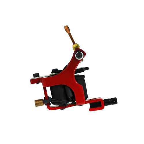 máquina de tatuagem iron works tattoo híbrida - vermelho