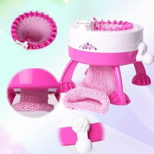 maquina de tejer con lana para fabricar gorritos bufandas