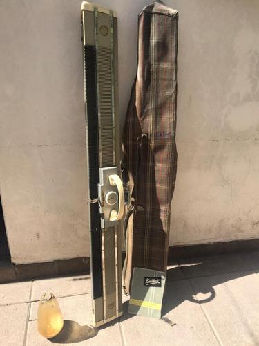 máquina de tejer knittax con accesorios, funda y manual